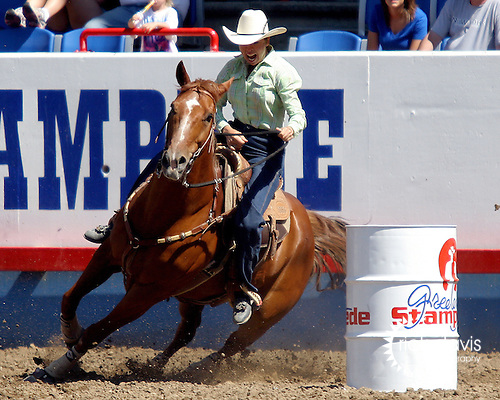 WPRA member Delores Toole turned in the fast time in the Womens Barrel Race with a time of 17.63 seconds to win the round on July 29th at the Greeley Independence Stampede Rodeo in Greeley, Colorado.
