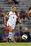 20 September 2012: Maryland's Cory Ryan. The University of Maryland Terrapins played the Duke University Blue Devils to a 2-2 tie after overtime at Koskinen Stadium in Durham, North Carolina in a 2012 NCAA Division I Women's Soccer game.