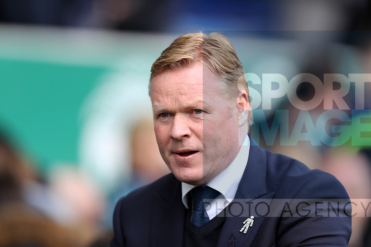 Everton manager Ronald Koeman during the English Premier League match at Goodison Park , Liverpool. Picture date: April 30th, 2017. Photo credit should read: Lynne Cameron/Sportimage