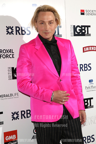 Marilyn, Peter Robinson at The British LGBT Awards at the Grand Connaught Rooms, London.<br /> May 13, 2016  London, UK<br /> Picture: James Smith / Featureflash