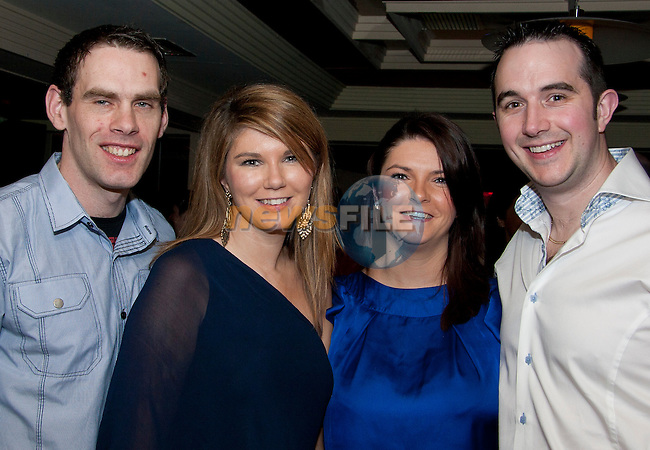 Liam Boylan, Fiona Callaghan, Sinead Callaghan and Ollie Farrell at Fiona's birthday in Barocco..Picture: Shane Maguire / www.newsfile.ie.
