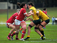 Action from the 2017 International Women's Rugby Series rugby match between Canada and Australia Wallaroos at Smallbone Park in Rotorua, New Zealand on Saturday, 17 June 2017. Photo: Dave Lintott / lintottphoto.co.nz