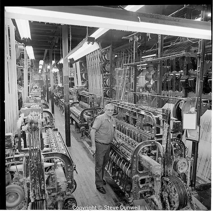Loom fixer at Arbeka Webbing, Pawtucket, RI
