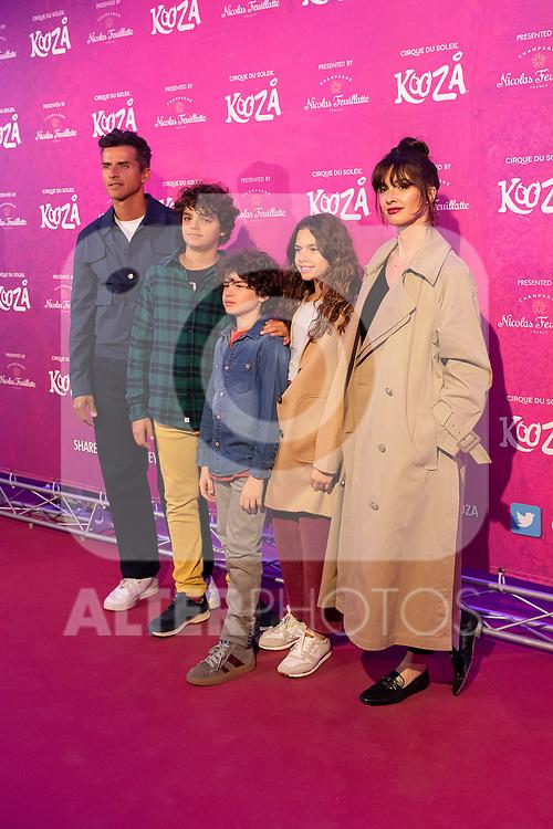 Actress Paz Vega (R) and her family attend the photocall of 'Kooza' a show of Cirque du Soleil. October 29, 2019. (ALTERPHOTOS/Johana Hernandez)