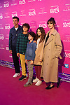 Actress Paz Vega (R) and her family attend the photocall of 'Kooza' a show of Cirque du Soleil. October 29, 2019. (ALTERPHOTOS/Johana Hernandez)