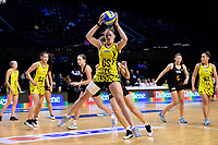 Central Manawa's Rochelle Fourie in action during the Beko Netball League - Central Manawa v Waikato Bay of Plenty at TSB Bank Arena, Wellington, New Zealand on Sunday 21 April 2019. <br /> Photo by Masanori Udagawa. <br /> www.photowellington.photoshelter.com