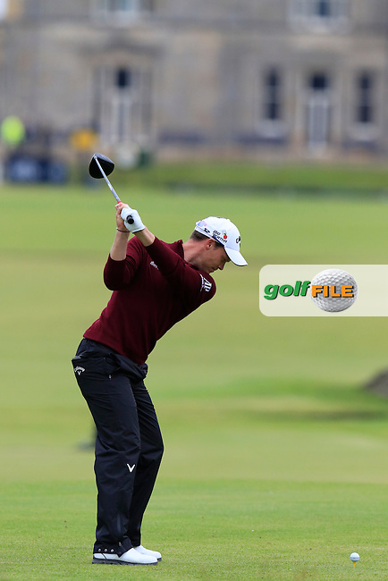 Danny WILLETT (ENG) tees off the 18th tee during Monday's Final Round of the 144th Open Championship, St Andrews Old Course, St Andrews, Fife, Scotland. 20/07/2015.<br /> Picture Eoin Clarke, www.golffile.ie