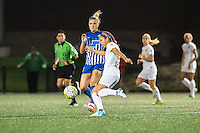 Allston, MA - Wednesday Sept. 07, 2016: Kristie Mewis, Jaelene Hinkle during a regular season National Women's Soccer League (NWSL) match between the Boston Breakers and the Western New York Flash at Jordan Field.