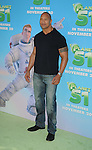 """WESTWOOD, CA. - November 14: Dwayne """"The Rock"""" Johnson arrives to the Los Angeles premiere of 'Planet 51' at the Mann Village Theatre on November 14, 2009 in Westwood, California."""