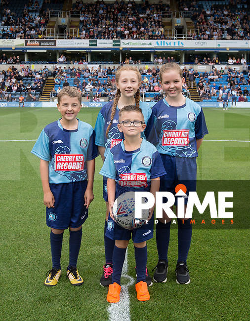 Mascots during the Sky Bet League 1 match between Wycombe Wanderers and Bristol Rovers at Adams Park, High Wycombe, England on 18 August 2018. Photo by Andy Rowland.