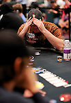 Mike Matusow goes in the tank after PS Team Pro Dario Minieri put him all in.  Matusow eventually folded.