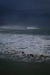 Winter in Biarritz, with a wild Atlantic Ocean.