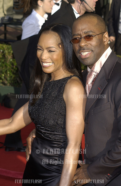 ANGELA BASSETT & COURTNEY B. VANCE at the 9th Annual SCREEN ACTORS GUILD AWARDS in Los Angeles..March 9, 2003.