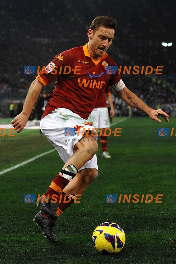 Francesco Totti Roma .Roma 16/02/2013 Stadio Olimpico.Football Calcio 2012/2013 Serie A.Roma Vs Juventus.Foto Andrea Staccioli Insidefoto