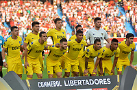 BARRANQUILLA - COLOMBIA, 2-05-2018. Formació de Boca Juniors de Argentina contra el  Atlético Junior de Colombia  durante partido por la fecha 4 ,grupo H , de la Copa Conmebol Libertadores de América    jugado en el estadio Metropolitano Roberto Meléndez de la ciudad de Barranquilla. / Team of Boca Juniors of Argentna  of Atletico agaisnt of Junior of Colombia  during the match for the date 4 , group H  of Conmebol Libertadores Cup 2018 played at the Metropolitano Roberto Melendez Stadium in Barranquilla city. Photo: VizzorImage / Alfonso Cervantes / Contribuidor