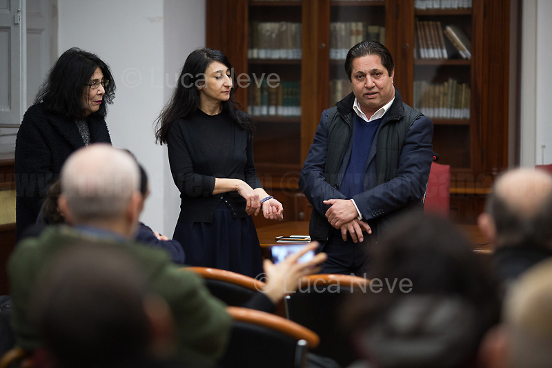 """Najo Adzovic (President of the Rom Association Nuova Vita """"Figli dello stesso Padre"""").<br /> <br /> Rome, 27/01/2020. Today is the International Holocaust Day, also called Holocaust Memorial Day in UK & Italy. A day designated by the UN General Assembly resolution 60/7 on 1 November 2005 to remember the victims of the Holocaust: 6 million Jews, 2 million Gypsies (Roma & Sinti), 15,000 homosexual people, and millions of others killed by the Nazi regime and its collaborators. The 27th of January (1945) marks the day of the liberation by the Soviet Union Army of the largest death camp, Auschwitz-Birkenau (75th Anniversary). To coincide with the Holocaust Memorial Day the Theater and Kunst Diletta Benincasa Foundation - Berlin (1.), supported by the Biblioteca di Storia Moderna e Contemporanea (Palazzo Mattei), promoted the event called """"Displaced"""" curated by Patrizia Bisci (2.). From the organizers press release: «The project unfolds in a path inside the old ghetto of Rome and materializes in installations, works and performances. […] the world of experiences and experimentation of the artists will thus become the ideal basis for understanding collective history. In fact, """"Displaced persons"""", a historical name with both positive and negative value, is the theme in memory of the history of Europe, when at the end of the Second World War the extermination camps were freed by the armies of the allies. Eleven million prisoners, among whom only a few thousand surviving Jews, no longer knew where to return. The houses, their lives were destroyed, occupied by others. Where to return? […]».<br /> <br /> Footnotes & Links:<br /> 1. http://bit.do/fqRC2<br /> 2. http://bit.do/fqRCF<br /> Nel Giorno Della Memoria (Source, Treccani.it) http://bit.do/fqRG5<br /> 27.01.19 Holocaust Memorial Day 2019 - Never Forget - Witnesses Of Witnesses http://bit.do/fqRXh"""