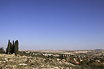 Israel, Shephelah, a view of Maccabim and the West Bank from Modiin