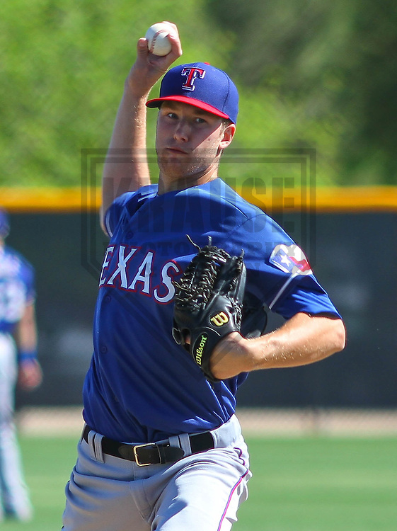 SURPRISE - March 2015: Cole Wiper of the Texas Rangers during a spring training workout on March 15th, 2015 at Surprise Recreation Campus in Surprise, Arizona. (Photo Credit: Brad Krause)