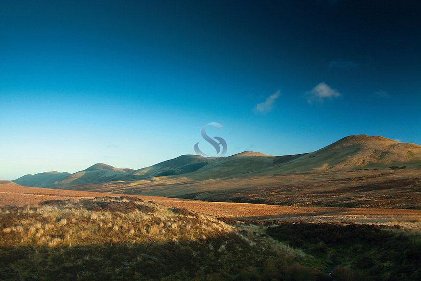 West Kip, East Kip, Scald Law and Carnethy Hill from the Red Road, The Pentland Hills, The Pentland Hills Regional Park, Lothian