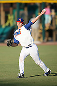April 17, 2009:  Starting pitcher Aaron Thompson of the Jacksonville Suns, Southern League Class-AA affiliate of the Florida Marlins, during a game at the Baseball Grounds of Jacksonville in Jacksonville, FL.  Photo by:  Mike Janes/Four Seam Images
