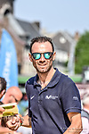Race favourite Alejandro Valverde (ESP) Movistar Team walks to the stage outside Le Palais des Princes-&Eacute;v&ecirc;ques at the team presentation before the 104th edition of La Doyenne, Liege-Bastogne-Liege 2018, Belgium. 21st April 2018.<br /> Picture: ASO/Karen Edwards | Cyclefile<br /> <br /> <br /> All photos usage must carry mandatory copyright credit (&copy; Cyclefile | ASO/Karen Edwards)