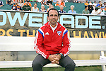 09 July 2014: Dallas head coach Oscar Pareja (COL). The Carolina RailHawks of the North American Soccer League played FC Dallas of Major League Soccer at WakeMed Stadium in Cary, North Carolina in the quarterfinals of the 2014 Lamar Hunt U.S. Open Cup soccer tournament. FC Dallas won the game 5-2.