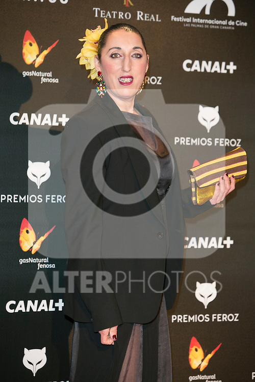 Rossy de Palma attends the Feroz Cinema Awards 2015 at Las Ventas, Madrid,  Spain. January 25, 2015.(ALTERPHOTOS/)Carlos Dafonte)
