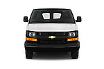 Car photography straight front view of a 2016 Chevrolet Express-Cargo 2500-Work-Van-HD 4 Door Cargo Van Front View