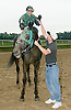 The Petro Brothers (Nick & Mike) celebrating after Nick wins The Kelso Stakes at Delaware aboard Lyracist on 10/2/04