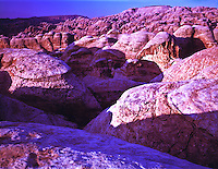 Nubian sandstone domes Petra National Park, Jordan View toward the high place Sunrise Ancient Nabataean city site February