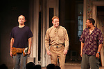 Frank Wood & Brendan Griffin & Damon Gupton.during the Broadway Opening Night Performance Curtain Call for 'Clybourne Park' at the Walter Kerr Theatre in New York City on 4/19/2012