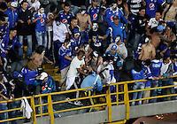 BOGOTÁ -COLOMBIA-7-02-2016.Hinchas  de Millonarios   pelean durante el  encuentro contra  Independiente Santa Fe   por la fecha 2 de Liga Águila I 2016 jugado en el estadio Nemesio Camacho El Campín en Bogotá./  Fans of Millonarios  fight during match against Independiente Santa Fe for the date 2 of the Aguila League I 2016 played at Nemesio Camacho El Campin stadium in Bogota. Photo: VizzorImage / Felipe Caicedo / Staff