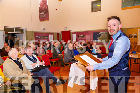 Lecture: Thomas Dillon, Kerry Historian-in-Residence about to deliver his lecture on the Prince Farmer of North Kerry George Hewson at Kerry Writers Museum, Listowel on Thursday night last.