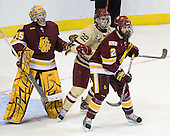 Kenny Reiter (Duluth - 35), Paul Carey (BC - 22), Brady Lamb (Duluth - 2) - The Boston College Eagles defeated the University of Minnesota Duluth Bulldogs 4-0 to win the NCAA Northeast Regional on Sunday, March 25, 2012, at the DCU Center in Worcester, Massachusetts.