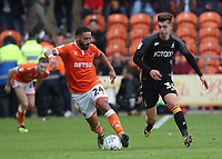 Blackpool's Liam Feeney  and Bradford City's Luca Colville<br /> <br /> Photographer Rachel Holborn/CameraSport<br /> <br /> The EFL Sky Bet League One - Blackpool v Bradford City - Saturday September 8th 2018 - Bloomfield Road - Blackpool<br /> <br /> World Copyright &copy; 2018 CameraSport. All rights reserved. 43 Linden Ave. Countesthorpe. Leicester. England. LE8 5PG - Tel: +44 (0) 116 277 4147 - admin@camerasport.com - www.camerasport.com