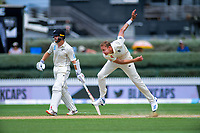 England's Stuart Broad bowls past NZ captain Kane Williamson during day five of the international cricket 2nd test match between NZ Black Caps and England at Seddon Park in Hamilton, New Zealand on Tuesday, 3 December 2019. Photo: Dave Lintott / lintottphoto.co.nz
