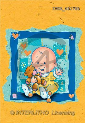 Isabella, BABIES, paintings, baby, pillow(ITKE081788,#B#) bébé, illustrations, pinturas ,everyday