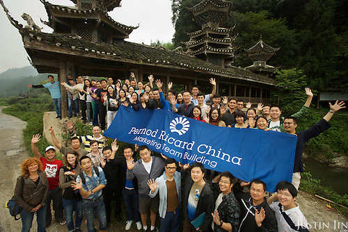 Pernod Ricard China group picture.