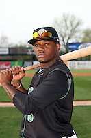 April 11 2010: Tyreace House of the Kane County Cougars at Elfstrom Stadium in Geneva, IL. The Cougars are the Low A affiliate of the Oakland A's. Photo by: Chris Proctor/Four Seam Images