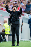 Coach Diego Simeone of Atletico de Madrid reacts during the La Liga 2017-18 match between Atletico de Madrid and Sevilla FC at the Wanda Metropolitano on 23 September 2017 in Madrid, Spain. Photo by Diego Gonzalez / Power Sport Images