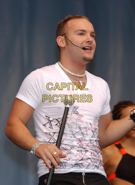 LIBERTY X - KEVIN SIMM.96.4 BRBM's Party in the Park .sales@capitalpictures.com.www.capitalpictures.com.©Capital Pictures.music, dancing, singing, live, concert