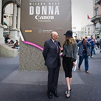 Mario Boelli, presidente della Camera Nazionale della Moda Italiana, intervistato da una televisione tedesca.<br /> <br /> Mario Boselli, president of the National Chamber for Italian Fashion, interviwed from a german television.