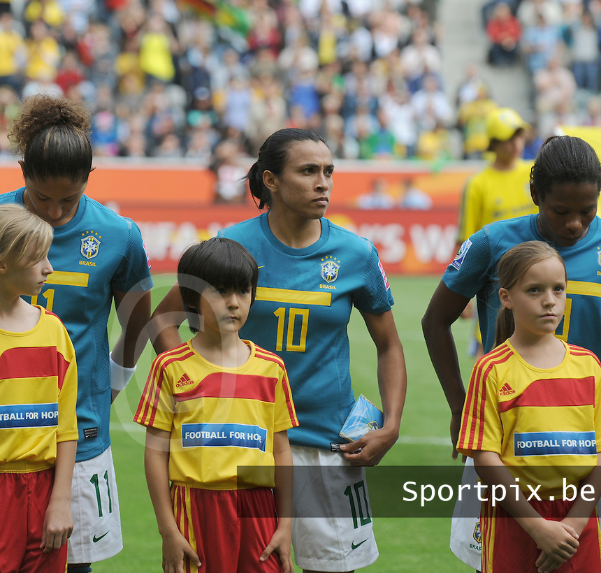 Fifa Women's World Cup Germany 2011 : Brazil - Australia  at Borussia - Park in Munchengladbach : Marta.foto DAVID CATRY / Vrouwenteam.be