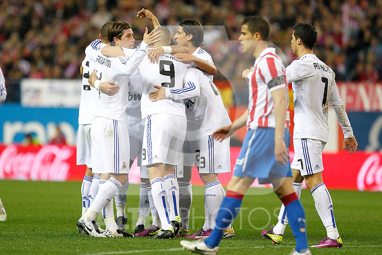 Atletico de Madrid's and Real Mdrid's during la Liga match on 19 march 2011...Photo: Cebolla Cid-Fuentes / ALFAQUI