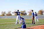 (T-B) Kenta Maeda, Ian Thomas (Dodgers),<br /> FEBRUARY 20, 2016 - MLB :<br /> Los Angeles Dodgers spring training baseball camp in Glendale, Arizona, United States. (Photo by AFLO)
