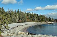 Rocky beach, Mount Desert Island, Maine, ME, USA