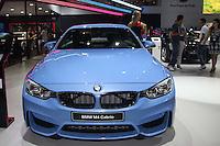 SAO PAULO, SP, 02.11.2014 - SALAO DO AUTOMOVEL - BMW M4 Cabrio em exposição<br />  durante o quarto dia do 28º Salão Internacional do Automóvel no Anhembi na região norte de São Paulo, neste domingo, 02. (Foto: Marcos Moraes / Brazil Photo Press).