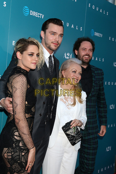 HOLLYWOOD, CA - JULY 7: Kristen Stewart, Nicholas Hoult, Jacki Weaver, Drake Doremus at the &quot;Equals&quot; Premiere at the ArcLight Theater in Hollywood, California on July 7, 2016. <br /> CAP/MPI/DE<br /> &copy;DE/MPI/Capital Pictures