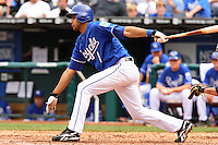 Royals shortstop Tony Pena bats against the Mariners at Kauffman Stadium in Kansas City, Missouri on May 27, 2007.  Seattle won 7-4.