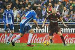 League Santander 2017-2018 - Game: 22.<br /> RCD Espanyol vs FC Barcelona: 1-1.<br /> Andres Iniesta vs Victor Sanchez.